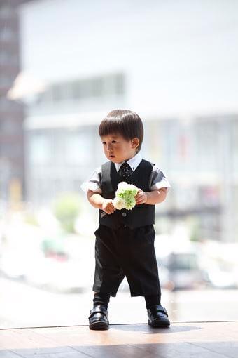 画像:ベスト&半袖シャツ(男の子)
