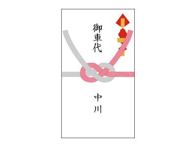 画像:熨斗袋の書き方(新婦側)