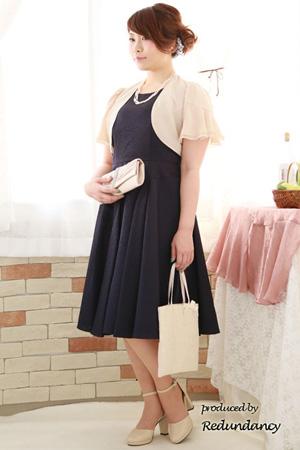 膝下丈のドレス