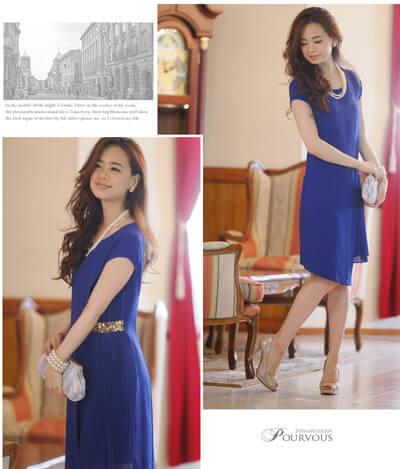 画像:青色のドレス