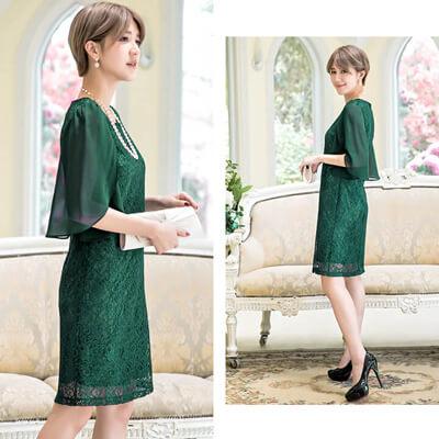 画像:緑色のドレス