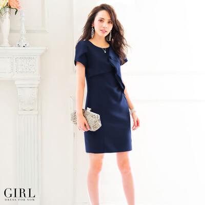 画像:シフォン素材のドレス