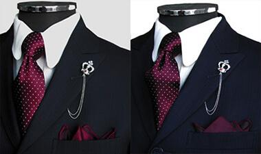 赤・ワイレッドのネクタイ