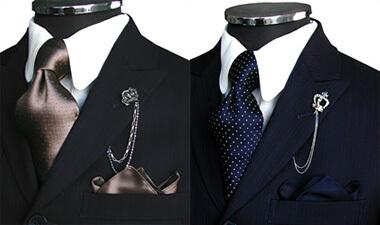茶色・青(紺)色のネクタイ