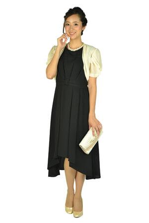 画像:黒のノースリーブドレス&ボレロ