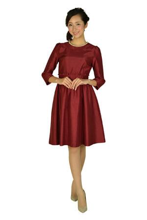 ボルドーカラーのドレス