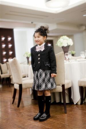 女の子のフォーマル(黒の靴下)