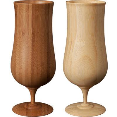 画像:木製ビアグラスセット